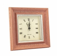 "6"" Square Coral Vintage Mantle Clock"