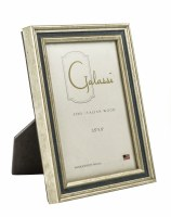 "3"" x 5"" Silver and Navy Channel Picture Frame"