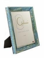 "8"" x 10"" Teal and Gold Bella Picture Frame"