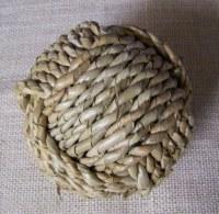 """4"""" Round Buri Rope Weave Orb"""