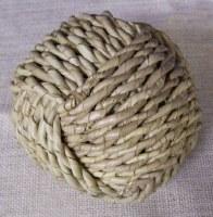 """5"""" Round Buri Rope Weave Orb"""