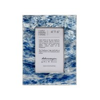 """4"""" x 6"""" Blue and White Capiz Picture Frame"""