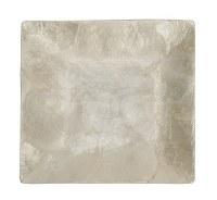 "8"" Square White Capiz Plate"