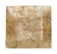 "8"" Square Gold Capiz Plate"