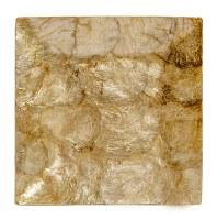 "10"" Square Gold Capiz Plate"