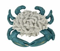 """8"""" Blue and White Coral Crab"""
