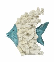 """7.5"""" Blue and White Coral Fish"""