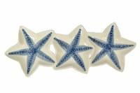 "16"" White and Blue Starfish Plate"