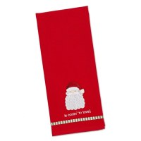 "20"" x 10"" Red Santa Is Comin to Town Kitchen Towel"