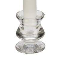 """3"""" Clear Glass Taper Candle Holder"""
