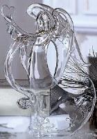 "11"" Clear Acrylic Angel With Heart"