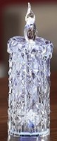 """5"""" LED Clear Acrylic Diamond Cut Candle"""