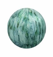 """4"""" Round Green and Blue Lake Como Painted Glass Orb"""