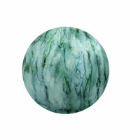 """3"""" Round Green and Blue Lake Como Painted Glass Orb"""