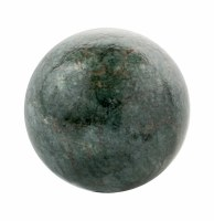 """5"""" Round Dark Green and Gold Caribe Painted Glass Orb"""