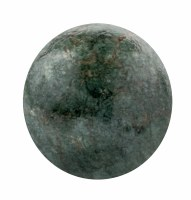 """4"""" Round Dark Green and Gold Caribe Painted Glass Orb"""