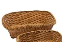 "12"" Brown Rectangle Basket"
