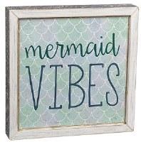 "8"" Square LED Mermaid Vibes Sign"