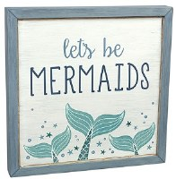 """12"""" Square LED Let's Be Mermaids Sign"""