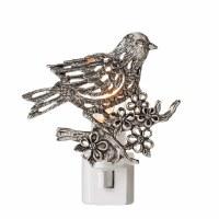 "4"" Silver Bird on Branch Openwork Night Light"