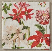 "20"" Square Holiday Botanicals Cotton Cloth Napkin"
