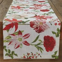"""72"""" x 15"""" Holiday Botanicals Cotton Table Runner"""