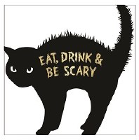 """5"""" Square Eat, Drink and Be Scary Paper Beverage Napkins"""