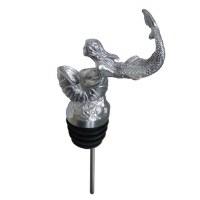 """5"""" Stainless Steel Metal Embossed Mermaid Wine Pourer"""