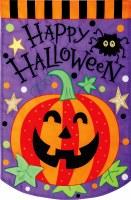 """12"""" x 18"""" Mini Halloween Pumpkin Flag"""