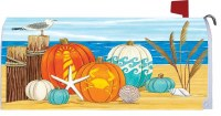 "19"" Coastal Pumpkins Mailbox Makeover"