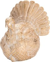 "5"" Small Resin Gold Elegant Turkey"