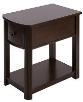 """13"""" Brown One Drawer End Table"""
