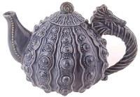 """10"""" Blue Urchin Seahorse Teapot"""