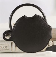 "3"" Black Round Encased Pocket Magnifier"