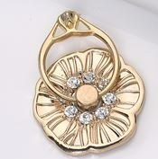 "1"" Gold Flower Cell Phone Ring Holder"