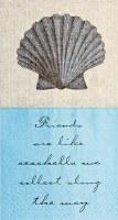 """8"""" x 5"""" Friends Seashells Paper Guest Towels"""
