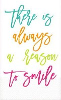 """8"""" x 5"""" Reason to Smile Paper Guest Towels"""
