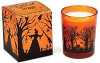 2 oz. Orange and Black Halloween Witch Votive
