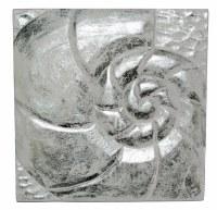 """10"""" Square Silver / White Nautilius Plaque"""
