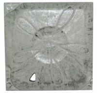 "10"" Square Silver / White Sand Dollar Plaque"