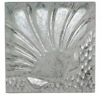 """10"""" Square Silver / White Scallop Plaque"""