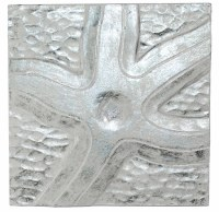 "10"" Square Silver / White Starfish Plaque"