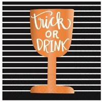 "5"" Square Trick or Drink Paper Beverage Napkin"