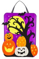 """20"""" x 15"""" LED Halloween Door Hanger"""