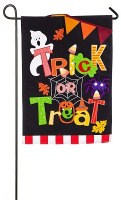 "18"" x 13"" Mini Burlap Trick or Treat Garden Flag"