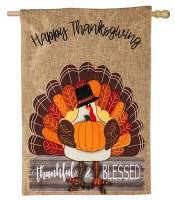 "44"" x 28"" Turkey Blessed House Flag"