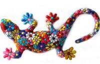 "5"" Multicolor Mosaic Floral Gecko"