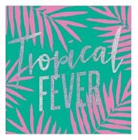 """5"""" Square Tropical Fever Foil Paper Beverage Napkins"""