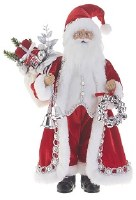 """19"""" Santa With Bells and Gifts"""