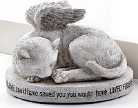 "4"" Cat Angel Memorial"